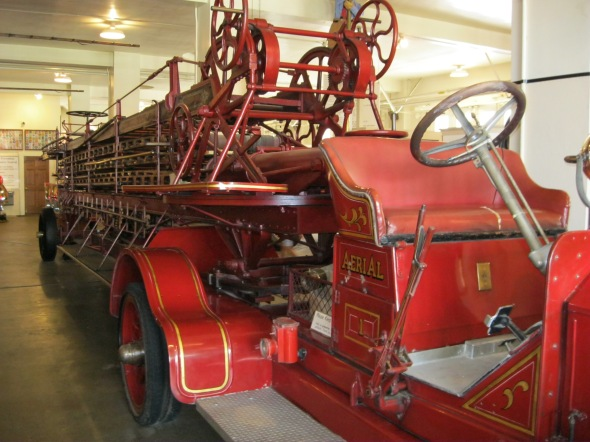 fire truck, fire station, ladder truck, old fire truck, Beaumont, Texas